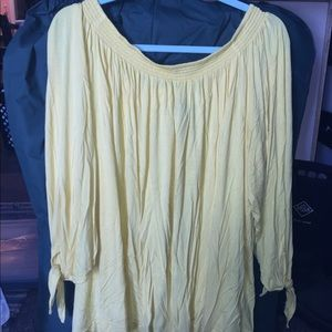 Bright yellow soft shirt